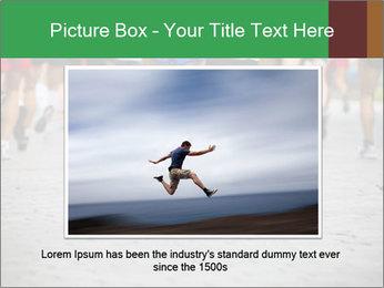 People running PowerPoint Template - Slide 16