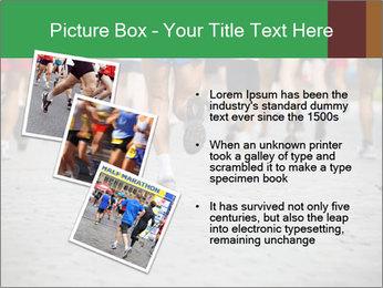 People running PowerPoint Template - Slide 17