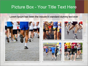 People running PowerPoint Template - Slide 19