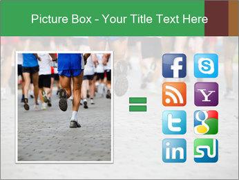 People running PowerPoint Template - Slide 21