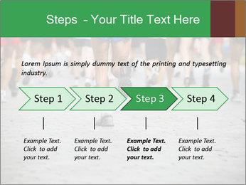 People running PowerPoint Template - Slide 4