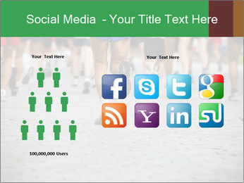 People running PowerPoint Template - Slide 5