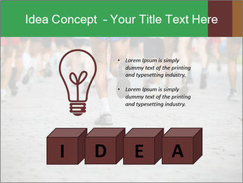 People running PowerPoint Template - Slide 80