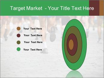 People running PowerPoint Template - Slide 84