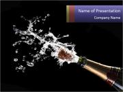 Classic champagne PowerPoint Template
