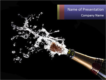 Classic champagne PowerPoint Template - Slide 1