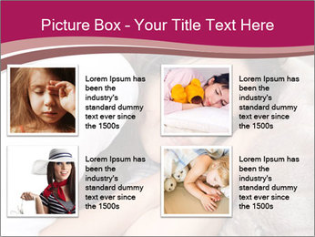 Woman laying PowerPoint Template - Slide 14