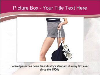 Woman laying PowerPoint Template - Slide 16
