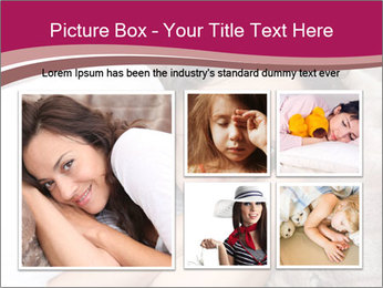 Woman laying PowerPoint Template - Slide 19
