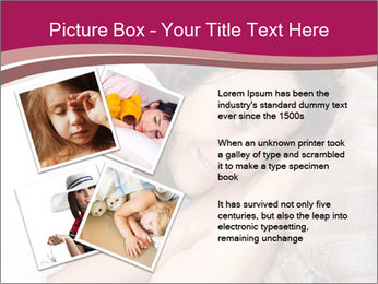 Woman laying PowerPoint Template - Slide 23