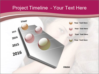 Woman laying PowerPoint Template - Slide 26