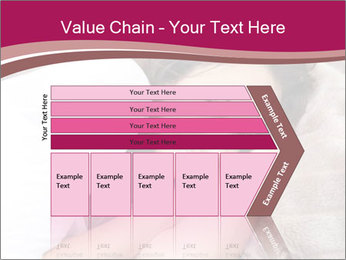 Woman laying PowerPoint Template - Slide 27