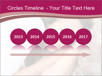 Woman laying PowerPoint Template - Slide 29