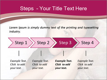 Woman laying PowerPoint Template - Slide 4