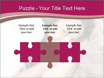Woman laying PowerPoint Template - Slide 42