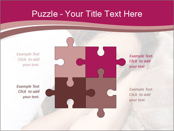 Woman laying PowerPoint Template - Slide 43