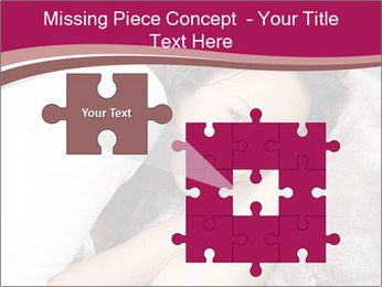 Woman laying PowerPoint Template - Slide 45