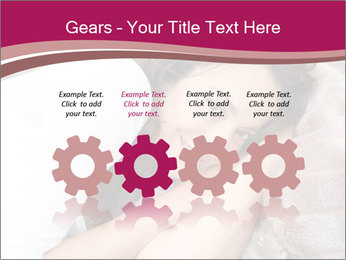 Woman laying PowerPoint Template - Slide 48