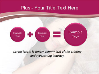 Woman laying PowerPoint Template - Slide 75