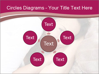 Woman laying PowerPoint Template - Slide 78