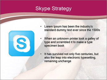 Woman laying PowerPoint Template - Slide 8