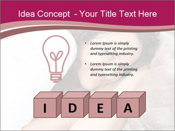 Woman laying PowerPoint Template - Slide 80