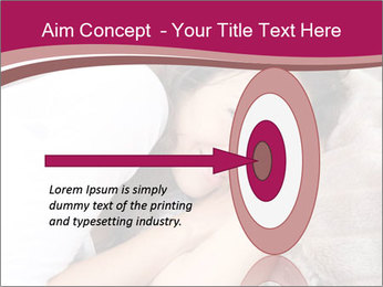 Woman laying PowerPoint Template - Slide 83