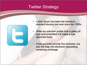 Woman laying PowerPoint Template - Slide 9