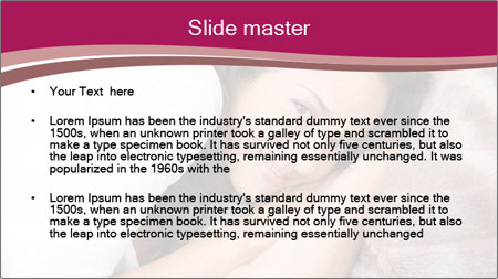 Woman laying PowerPoint Template - Slide 2