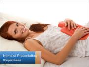 Woman lying PowerPoint Template