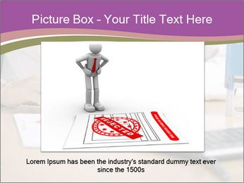 Businesswoman signing document PowerPoint Template - Slide 15