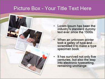 Businesswoman signing document PowerPoint Template - Slide 17