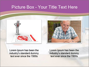 Businesswoman signing document PowerPoint Template - Slide 18