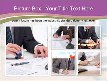 Businesswoman signing document PowerPoint Template - Slide 19