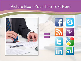 Businesswoman signing document PowerPoint Template - Slide 21