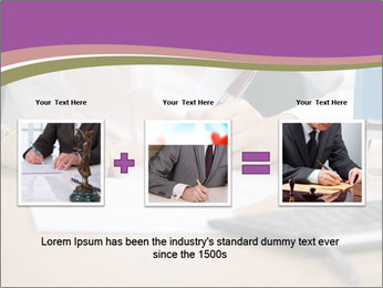 Businesswoman signing document PowerPoint Template - Slide 22
