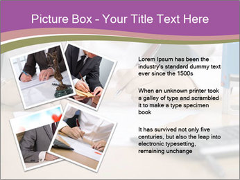 Businesswoman signing document PowerPoint Template - Slide 23