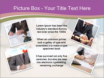 Businesswoman signing document PowerPoint Template - Slide 24