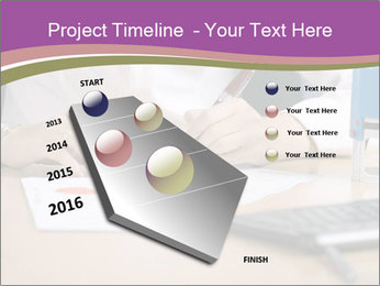 Businesswoman signing document PowerPoint Template - Slide 26