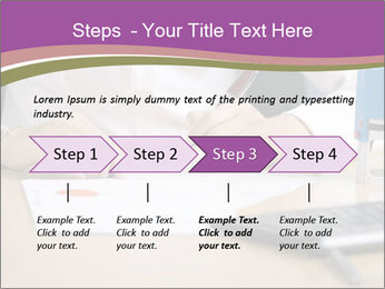 Businesswoman signing document PowerPoint Template - Slide 4