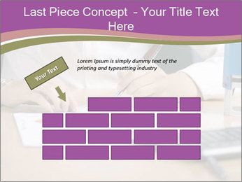 Businesswoman signing document PowerPoint Template - Slide 46