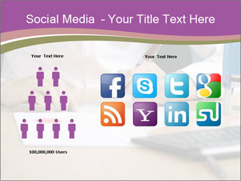 Businesswoman signing document PowerPoint Template - Slide 5