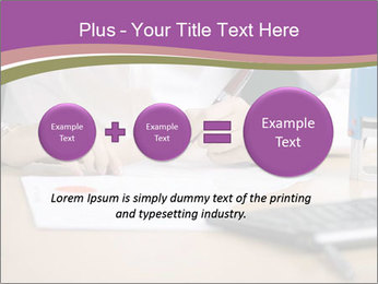 Businesswoman signing document PowerPoint Template - Slide 75