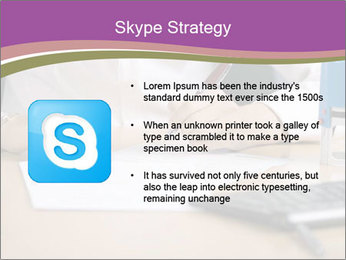 Businesswoman signing document PowerPoint Template - Slide 8