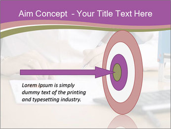 Businesswoman signing document PowerPoint Template - Slide 83