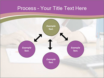 Businesswoman signing document PowerPoint Template - Slide 91