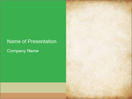 Old vintage paper PowerPoint Template
