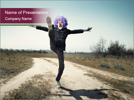 Jumping PowerPoint Template