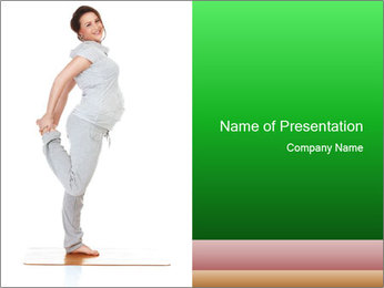 Pregnant woman PowerPoint Template - Slide 1