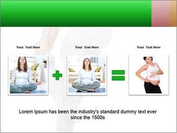 Pregnant woman PowerPoint Template - Slide 22